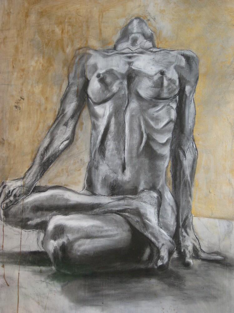 sitting nude  by bergerk