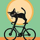 Cat loves a bike by BATKEI