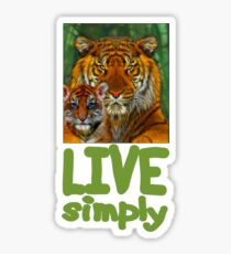 Live Simply Tiger Sticker