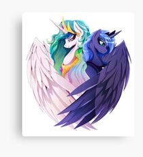 Sisters of Canterlot Canvas Print