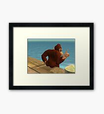 Thicc Donkey Kong Framed Print