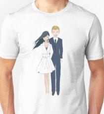 Harry and Meghan Engagement Portrait Unisex T-Shirt
