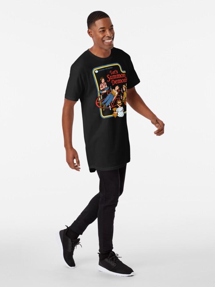 Vista alternativa de Camiseta larga Vamos a invocar demonios