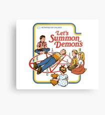 Let's Summon Demons Metal Print