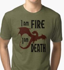 Fire & Death Tri-blend T-Shirt