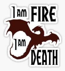 Feuer und Tod Sticker