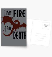 Fire & Death Postcards