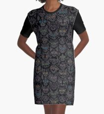 Kittens - Spooky Eyes Graphic T-Shirt Dress