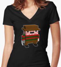 Freddy Kreuger Women's Fitted V-Neck T-Shirt