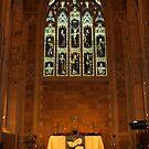 Altar at St David's Anglican Cathedral, Hobart by Bev Pascoe