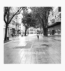 'Sunday in Lyon' by EB Photographic Print