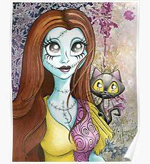 """Gaze Into The Stars"" Sally & Kitty Poster"