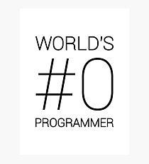 World's Best Programmer Photographic Print