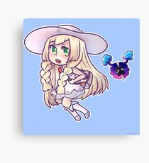 Pokemon Sun/Moon Lillie and Nebby Canvas Print