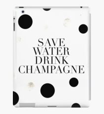 Champagne Quote,Bar Decor,Wedding Anniversary,Restaurant Decor,Gold Foil,Champagne Sign,Funny Quote,Cheers iPad Case/Skin