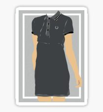 Fred Perry dress illustration Sticker