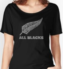 "The Rugby Team ""All Blacks"" of New Zealand  Women's Relaxed Fit T-Shirt"