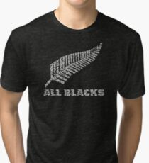 """The Rugby Team """"All Blacks"""" of New Zealand  Tri-blend T-Shirt"""