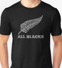"The Rugby Team ""All Blacks"" of New Zealand  Unisex T-Shirt"