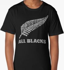 """The Rugby Team """"All Blacks"""" of New Zealand  Long T-Shirt"""