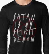 SATAN IS MY SPIRIT DEMON - FUNNY SATANIC AND THE OCCULT Long Sleeve T-Shirt