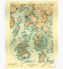 Maine USGS Historical Map Penobscot Bay 807612 1905 125000 Poster