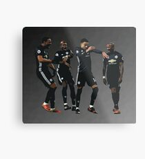 Pogba Lingard Martial Young Milly Rock Metal Print