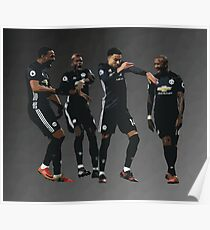 Pogba Lingard Martial Young Milly Rock Poster
