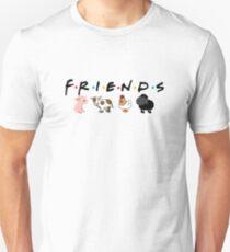 Camiseta ajustada amigos no comida