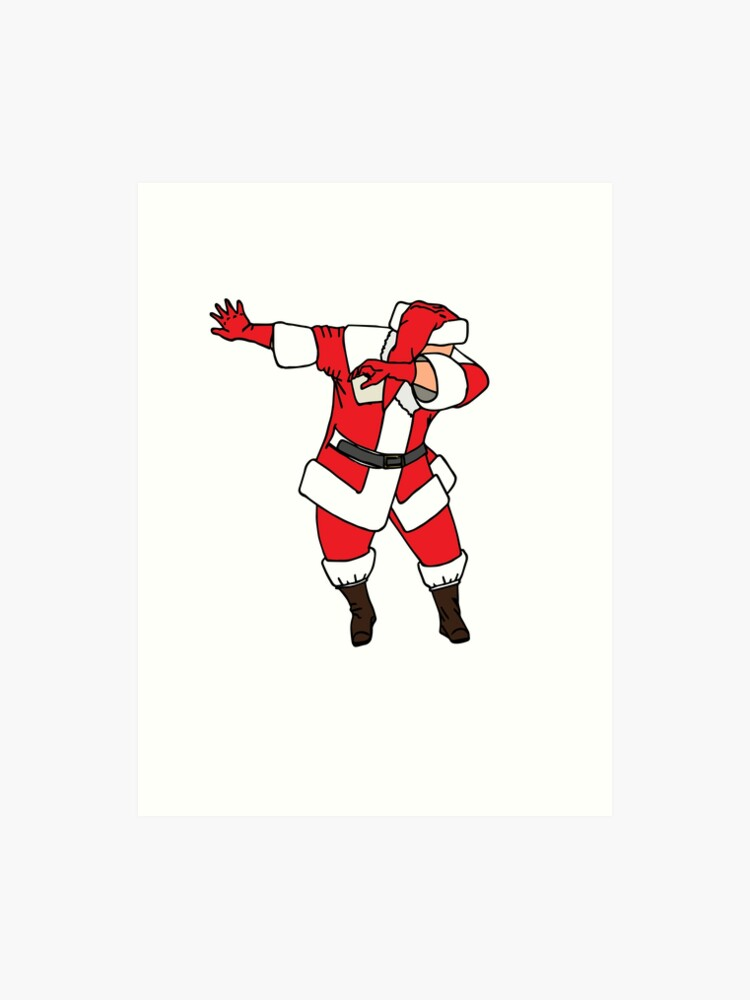 picture regarding Santa Claus Printable Pictures identified as Dabbing Santa Blouse - Humorous Santa Claus Xmas Dab Tee Artwork Print