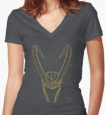 Mischief Concept Women's Fitted V-Neck T-Shirt
