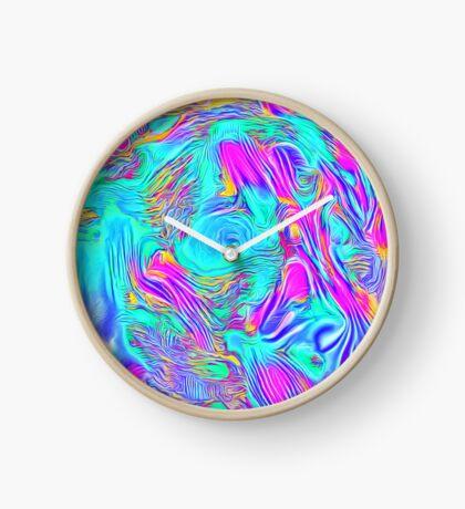 Abstract Blue zodiac color #7E9DD8 Clock