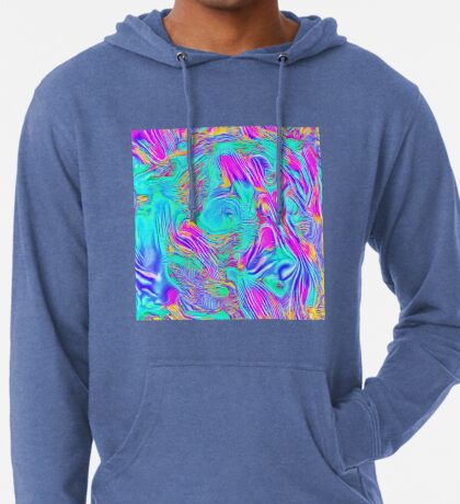Abstract Blue zodiac color #7E9DD8 Lightweight Hoodie
