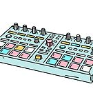 Blue pad drum machine  by theeighth