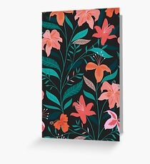 Flame Flowers  Greeting Card