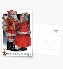 Vintage Christmas Greetings from Mr and Mrs Claus Postcards