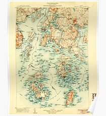 Maine USGS Historical Map Penobscot Bay 807614 1905 125000 Poster