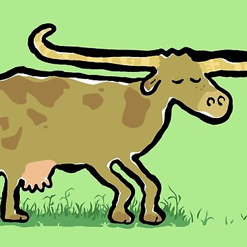 longhorn cow by greendeer
