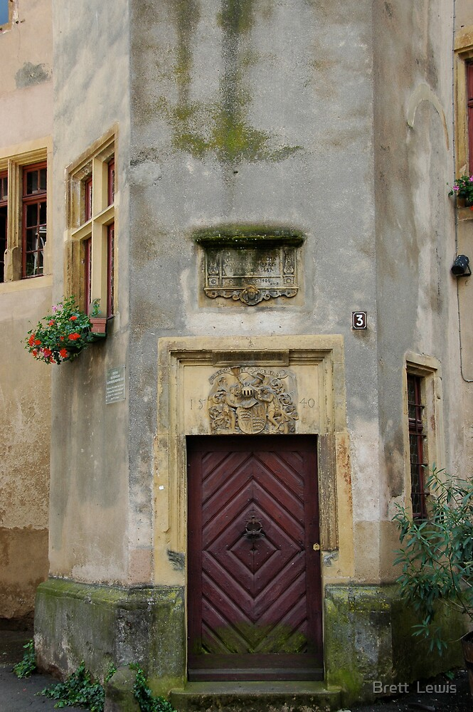 Renaissance Doorway, Alsace, France by Brett  Lewis