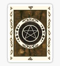 Pentagramm mit trinity Symbol. Sticker