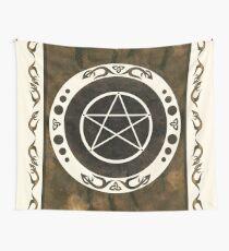 Pentagramm mit trinity Symbol. Wandbehang