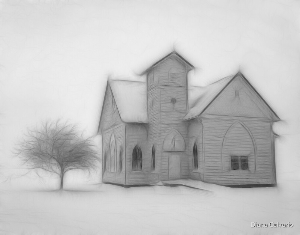 Church in winter by Diana Calvario