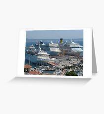 Berthing at Palma Harbour Greeting Card