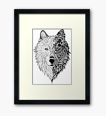 duo wolf Framed Print