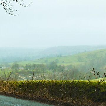 Foggy English Hills by bmosborn