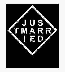 Stylish Just Married Photographic Print