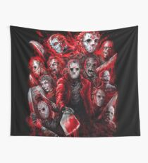 Jason Voorhees (Many faces of) Wall Tapestry