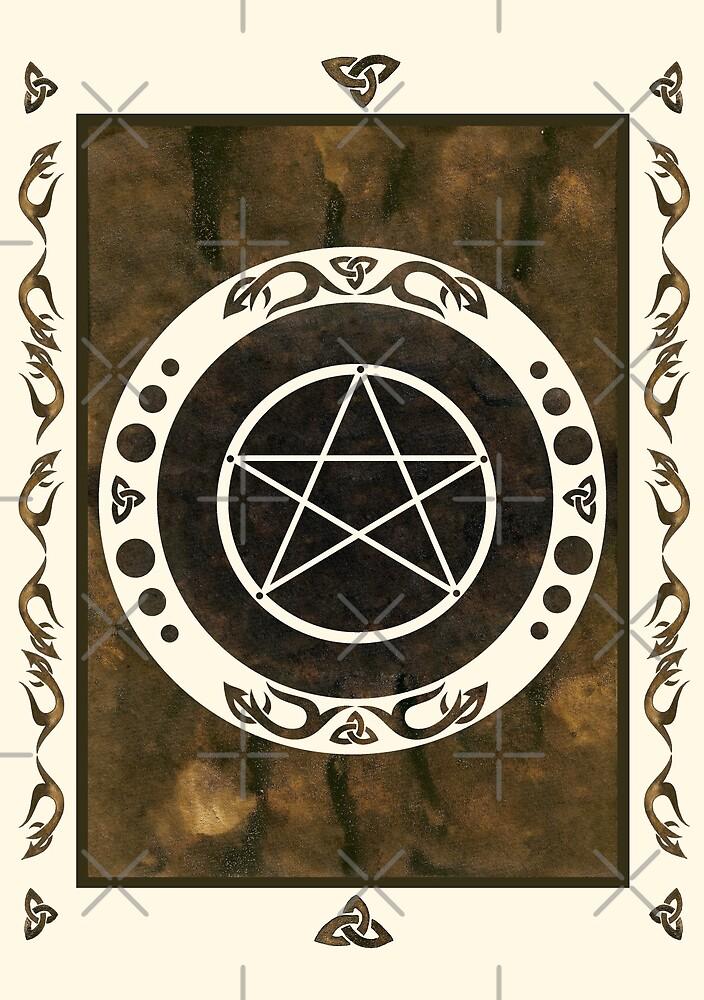 Pentagramm mit trinity Symbol. von Christine Krahl