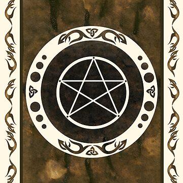Pentagramm mit trinity Symbol. von ChristineKrahl
