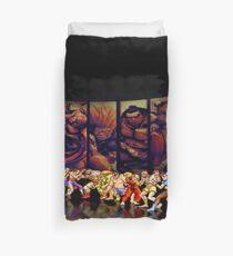 Street Fighter II pixel art Duvet Cover
